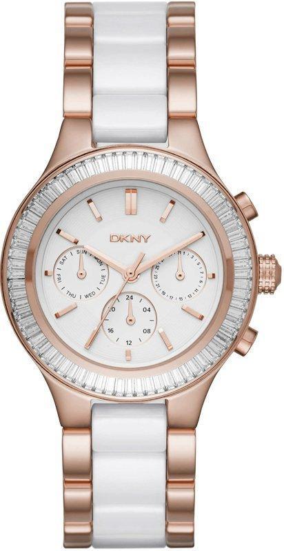 Часы наручные женские DKNY NY2498 кварцевые, с кристаллами, сталь/керамика, США