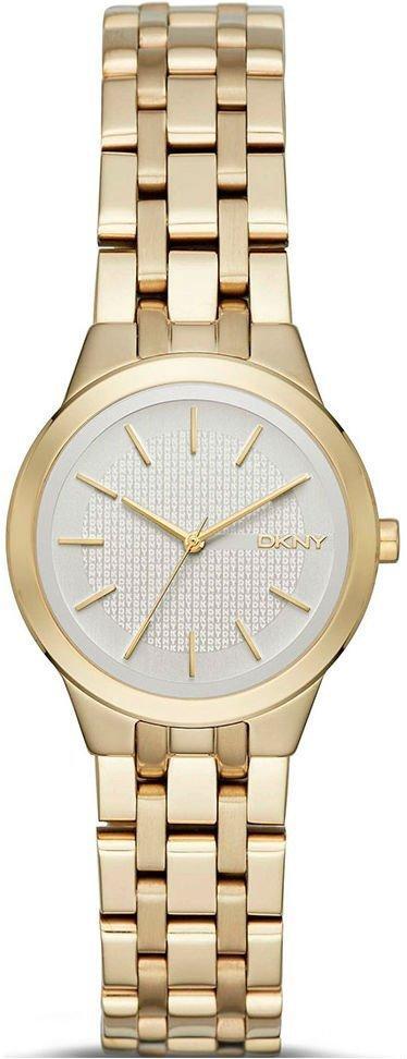 Часы наручные женские  DKNY NY2491 кварцевые на браслете, цвет желтого золота, США