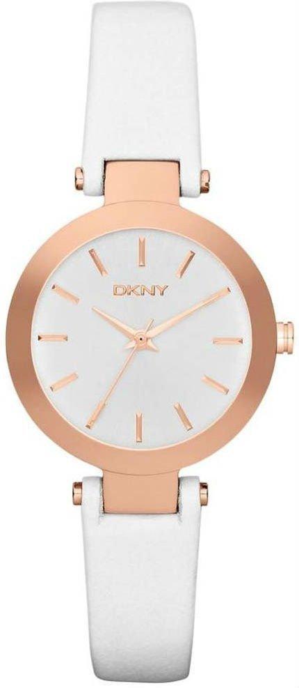 Часы наручные женские DKNY NY2405 кварцевые,белые, ремешок из кожи, США