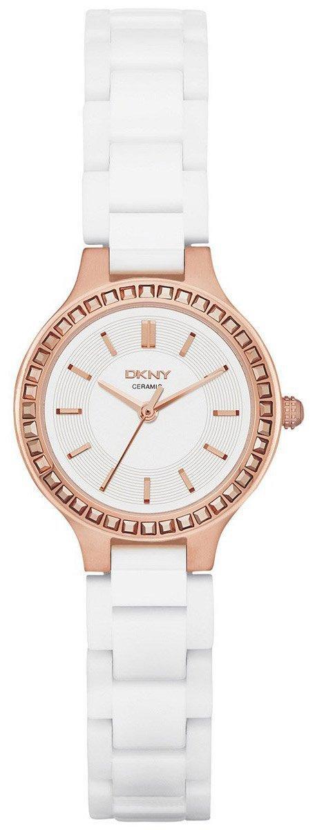 Часы наручные женские  DKNY NY2251 кварцевые, белые, керамический ремешок, США