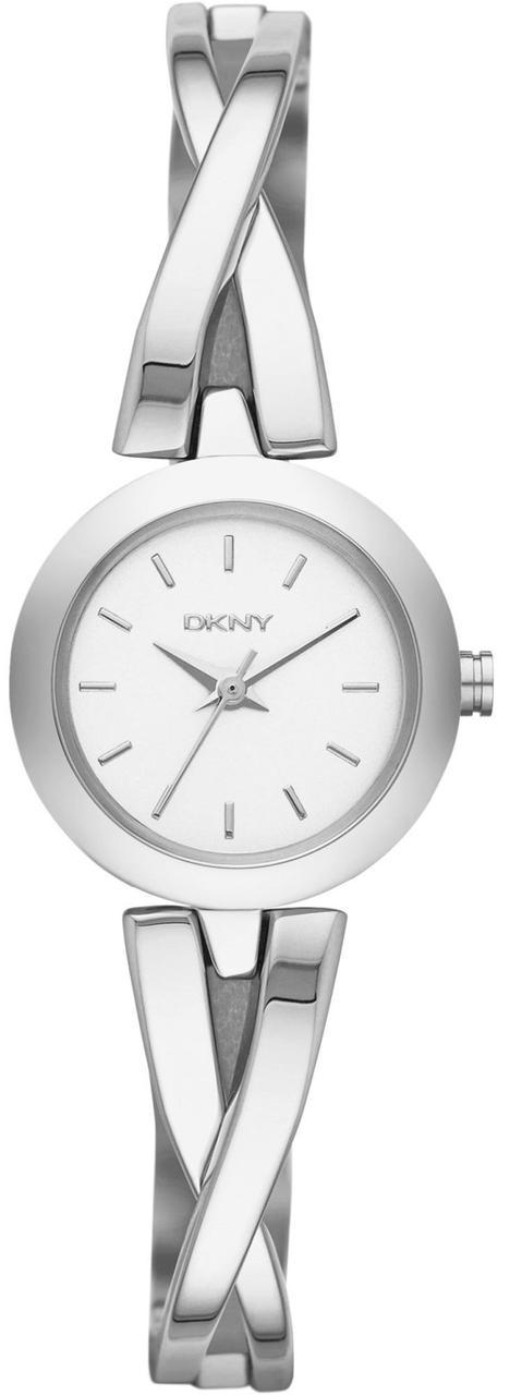 Часы наручные женские DKNY NY2169 кварцевые, декоративный браслет, серебристые, США
