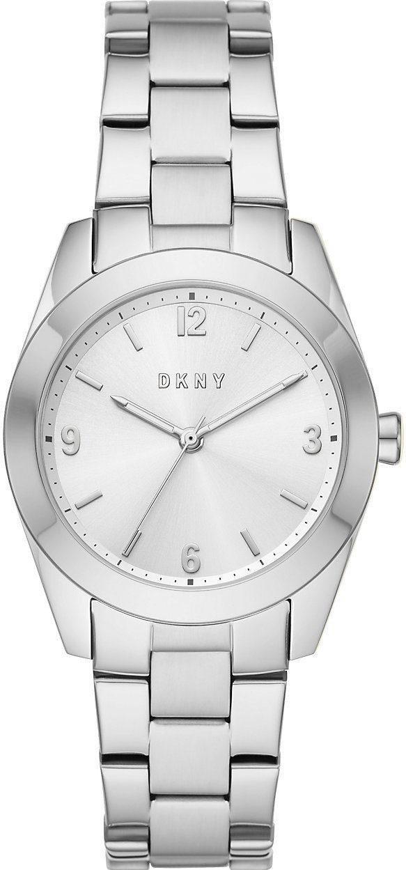 Часы наручные женские DKNY NY2872 кварцевые, на браслете, серебристые, США
