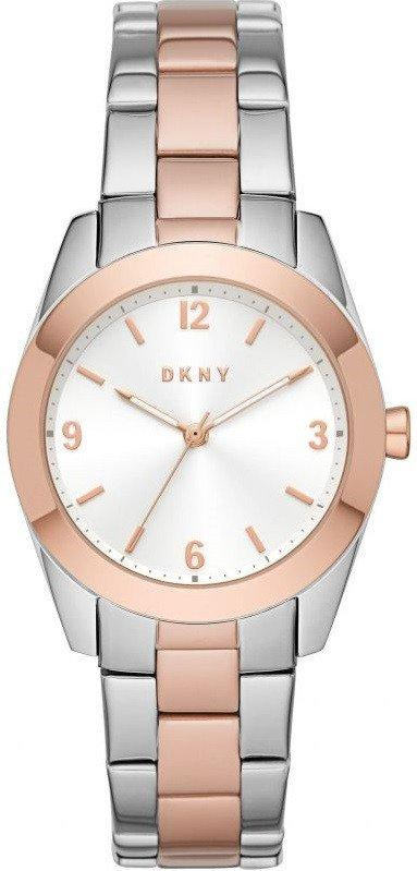 Часы наручные женские DKNY NY2897, кварцевые, цвет розового золота, США
