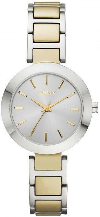 Часы наручные женские DKNY NY2401 кварцевые, на браслете, биоколор, США УЦЕНКА