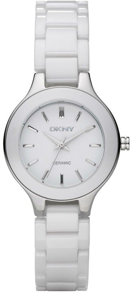 Часы наручные женские DKNY NY4886 кварцевые, белые, керамический ремешок, США УЦЕНКА