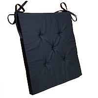 Подушка на стул Кедр на Ливане квадратная серия Classic Black 37x37x3