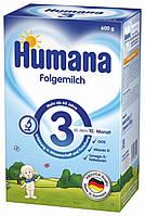 Молочная сухая смесь 3 с пребиотиками 600г Humana Германия 78215