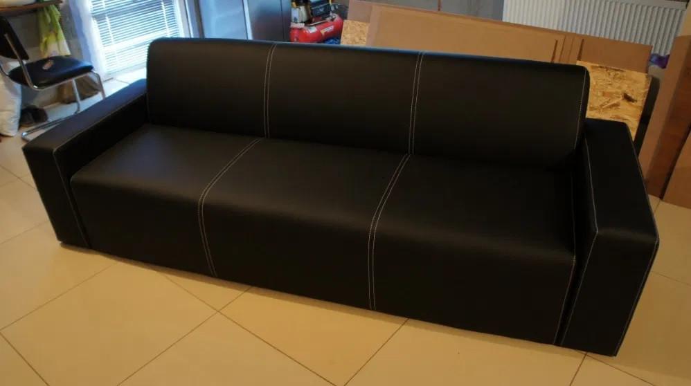 Великий офісний диван зі шкірозамінника БЕЗ ПЕРЕДОПЛАТИ ЗА 48 ГОДИН