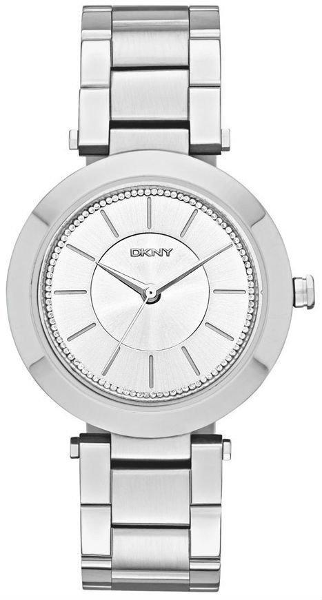 Часы наручные женские  DKNY NY2285 кварцевые, на браслете, серебристые, США