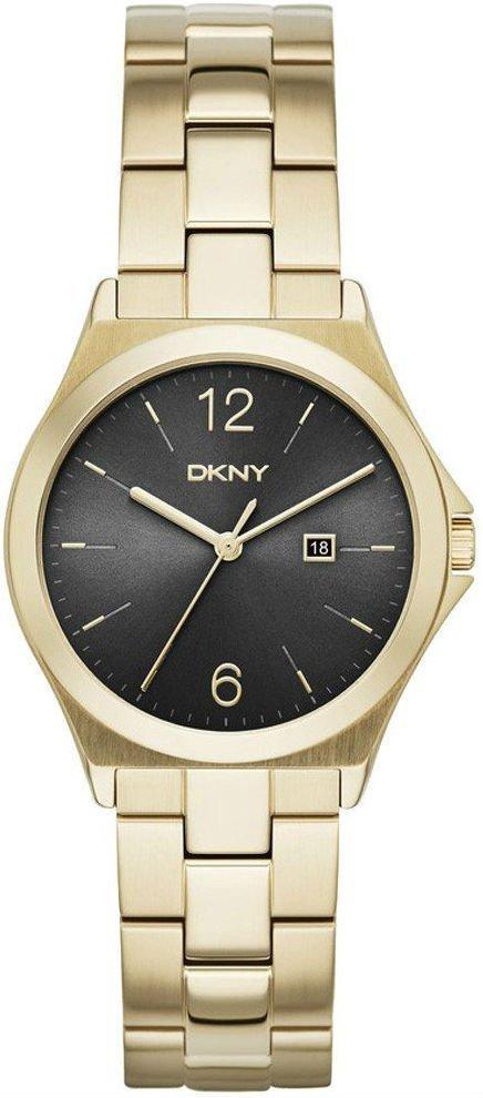 Часы наручные женские DKNY NY2366 кварцевые, на браслете, золотистые, США