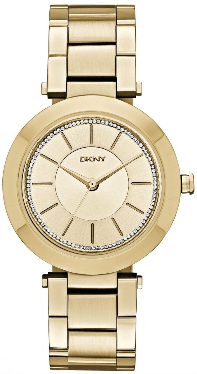 Часы наручные женские DKNY NY2286 кварцевые, на браслете, золотистые, США