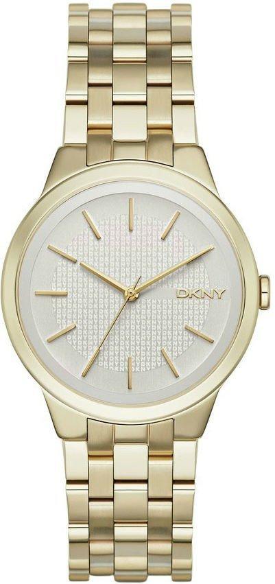 Часы наручные женские DKNY NY2382 кварцевые, на браслете, золотистые, США