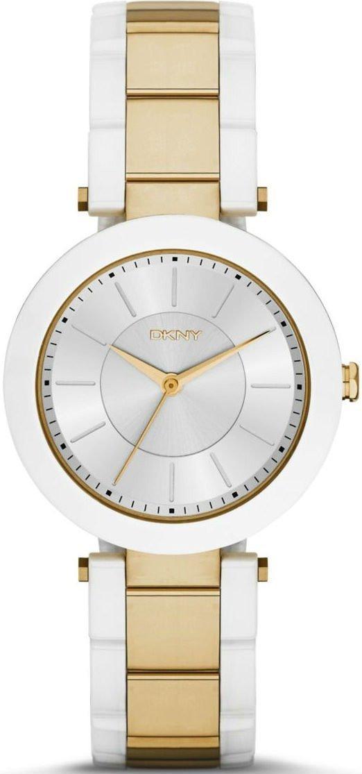 Часы наручные женские DKNY NY2289 кварцевые, на браслете, золотистые, США