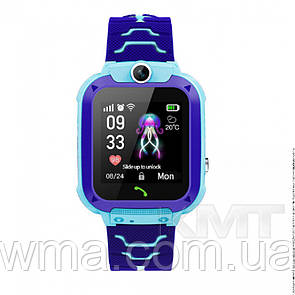 Smart Baby Watch Q20 Waterproof с GPS трекером 4G  — Blue