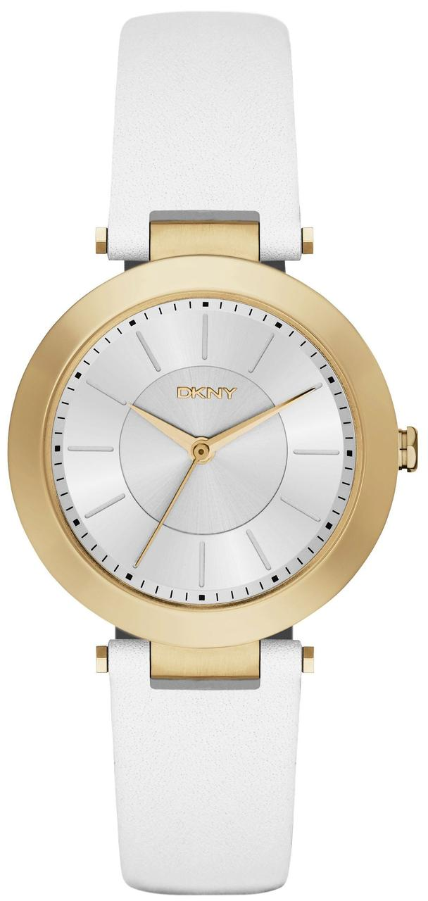Часы наручные женские DKNY NY2295 кварцевые, сталь, белый ремешок из кожи, США