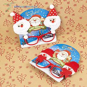 Новорічні окуляри Діда Мороза мікс
