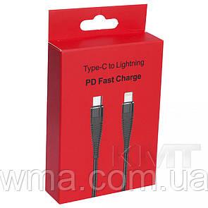 Переходник (Адаптер) Type C To Lightning Cable (1m) - Black