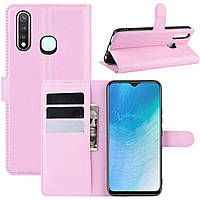 Чехол-книжка Litchie Wallet для Vivo U3 / Y5S / Y19 Pink