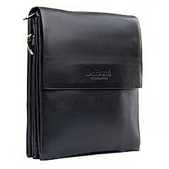 Сумка мужская черная планшет на плечо размер 22*18 см Dr.Bond GL 308-2