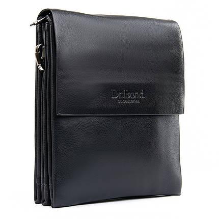 Сумка мужская черная планшет на плечо размер 22*18 см Dr.Bond GL 308-2, фото 2
