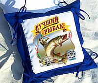 Подушка декоративная, оригинальный подарок рыбаку