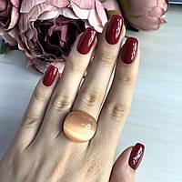 Серебряное кольцо SilverBreeze с кошачьим глазом 17.5 размер