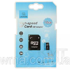 USAMS 16 GB US-ZB117 TF High Speed Card+Adapter (ZB117TF01) Blue