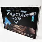 Акумуляторний масажер для тіла Fascial Gun HG-320 портативний ручний ударний м'язовий пістолет 4 насадки, фото 10