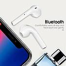 Бездротові навушники TWS I12 Bluetooth із зарядним кейсом в стилі AirPods гарнітура мікрофон телефон блютуз, фото 3