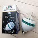 Карнавальная вращающаяся диско лампочка хамелеон Led mini party light lamp гирлянда для праздничный шар, фото 7