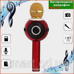 Колонка з функцією Караоке Мікрофона Wster WS-878 (USB, microSD, AUX, FM, Bluetooth)