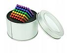 Конструктор головоломка Neocube Радуга 216 неодимовых шариков по 5 мм в боксе магнитный нео куб цветной неокуб, фото 2