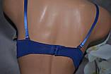 Бюстгальтер TEYI андервеар кружевной кружак пуш ап темно синий, фото 4