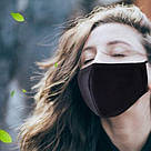 Маска чёрная многоразовая защитная тканевая хлопковая для лица черная black mask противовирусная FFP-2 FFP 2, фото 8