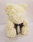 Мишка 40 см с коробкой из 3D фоамирановых роз Teddy de Luxe / искусственных цветов 3д, пенопласт Тедди белый, фото 4