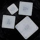 Набор многоразовых силиконовых крышек пленок Stretch and Fresh разного размера для хранения продуктов, фото 10