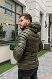 Мужская зимняя куртка теплая с капюшоном Мадрид Хаки Турция. Живое фото. Чоловіча куртка, фото 5