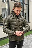 Мужская зимняя куртка теплая с капюшоном Мадрид Хаки Турция. Живое фото. Чоловіча куртка, фото 3