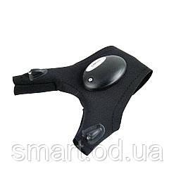 Рукавички з підсвічуванням hand-free light для ремонту авто, спорту, риболовлі, туризму / рукавичка ліхтарик