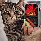 Портативний міні Обогреватель дуйка тепловентилятор FLAME HEATER 500 Вт з пультом + подарунок метеостанції, фото 5