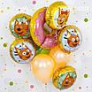 FM (18''/46 см) Круг, Три кота, желтый. Фольгированный воздушный шар Три кота Карамелька, фото 3