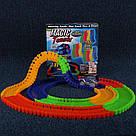 Детский светящийся гибкий трек Magic Tracks 220 деталей автомобильная гоночная трасса Меджик трек машина, фото 7