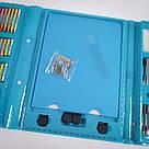 Художній набір для творчості, малювання 208 предметів з мольбертом для дітей у валізі, фото 7