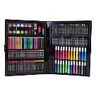 Художественный набор для творчества, рисования 150 предметов с мольбертом для детей в чемодане, фото 2