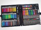 Художественный набор для творчества, рисования 150 предметов с мольбертом для детей в чемодане, фото 8