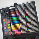 Художественный набор для творчества, рисования 150 предметов с мольбертом для детей в чемодане, фото 9