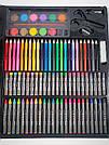 Художественный набор для творчества, рисования 150 предметов с мольбертом для детей в чемодане, фото 10