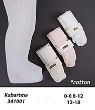 Бавовняні Колготки для дівчаток оптом, Туреччина ТМ Katamino р. 0-6 міс