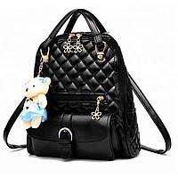 Стильный женский рюкзак черного цвета letu