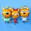 F (34''/86 см) Фигура, Три Кота, Карамелька.. Шар фольгированный фигура Карамелька (Три кота). В УП, фото 6